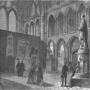 WESTMINSTER ABBEY. Poets' corner, Westminster Abbey. London c1880 old print